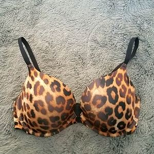 Cheetah print bra